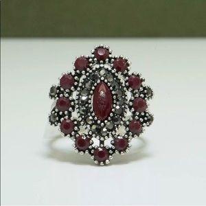 Jewelry - BOHEMIAN RUBY AND HEMATITE RING